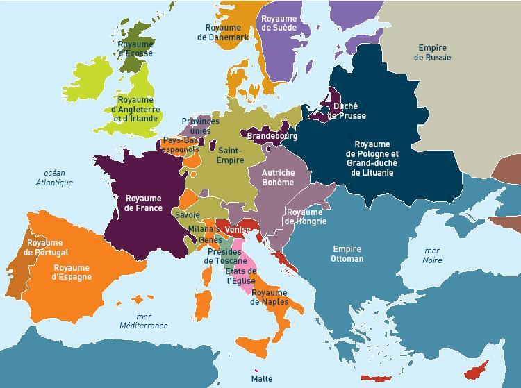 carte europe xvi