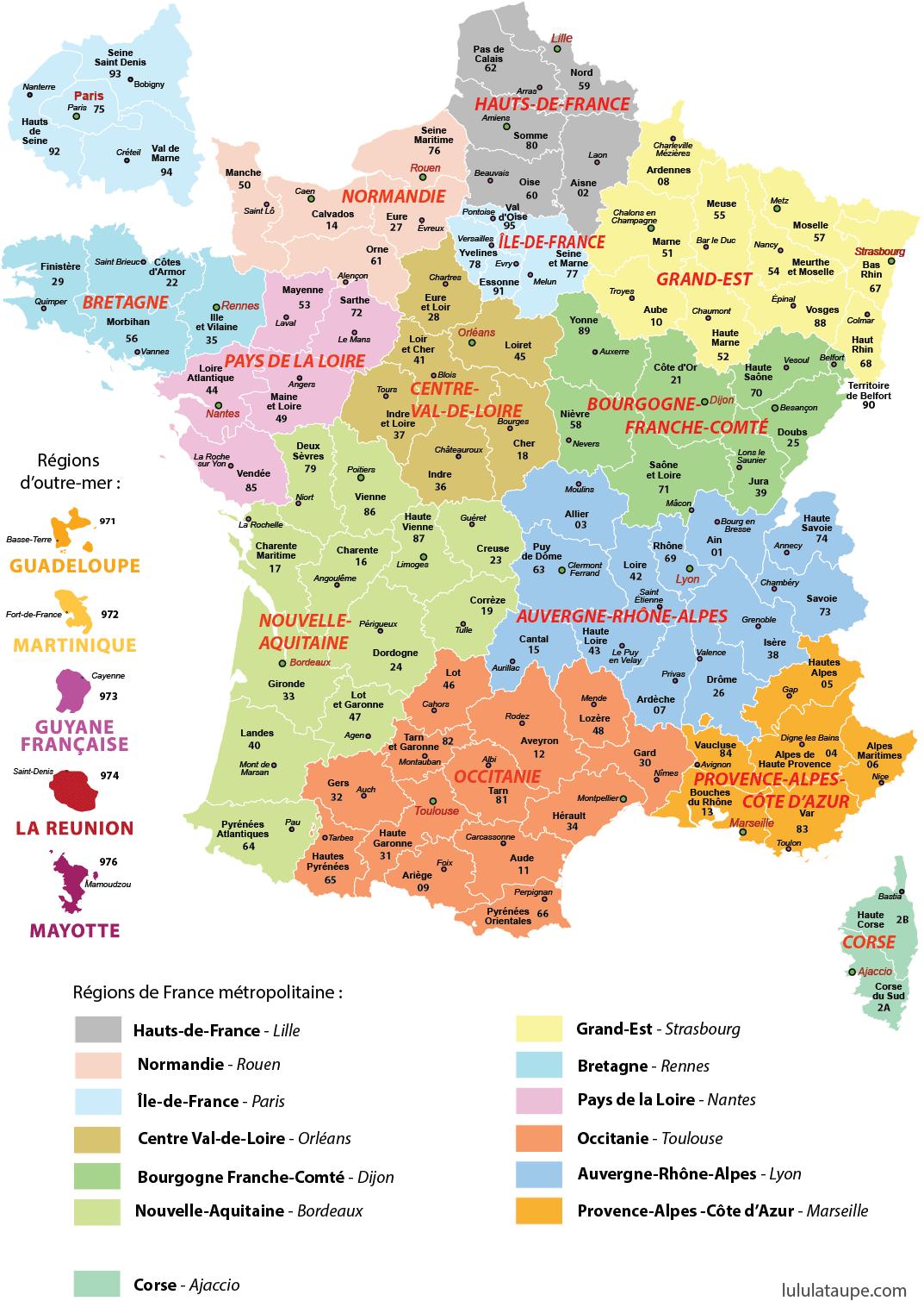 carte des nouvelles regions BC1 Carte France Region | Wiring Resources